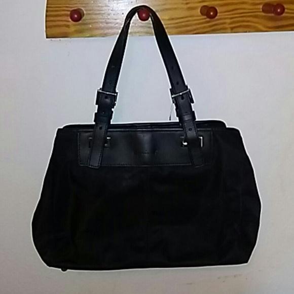 Agnes B. Handbags - Agnès b. Voyage Nylon Black Bag